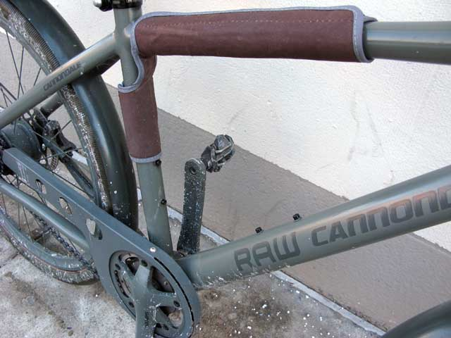 4573e10718e Cannondale RAW urban roadster bicycle (2013) Clothing brand G-Star Raw  offers a stylish Cannondale Alfine-equipped bike, in olive drab with brown  accents, ...