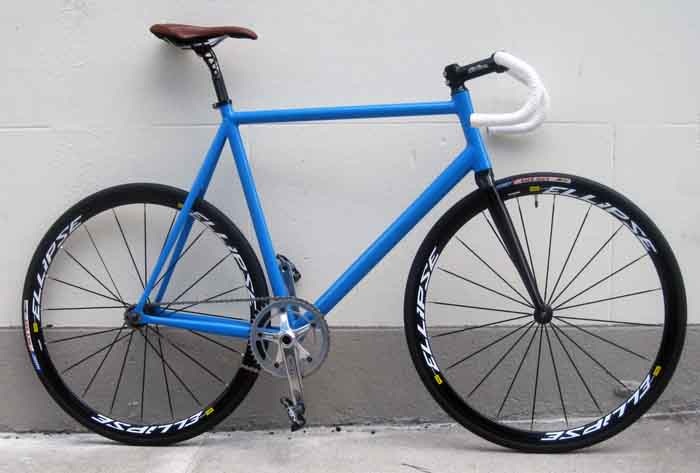 french 75 track frame and fork 7005 series aluminum tubing with straight blade carbon fork sizes 49cm 51cm 53cm 55cm 57cm 59cm 61cm